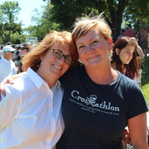 Amy with Representative Erin Murphy at the 2014 Bean Bag Fundraiser.
